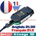 2021 новейший VCDScan HEX V2 21.3.0 Интерфейс VAG COM 20,12 VAGCOM 20.4.2 для VW AUDI Skoda Seat VAG 21,3 Английский Французский ATMEGA162