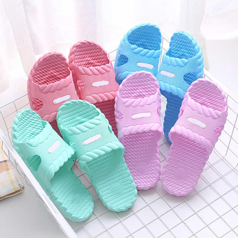ในร่มด้านล่างหนาลากคำเกาหลีรุ่นคู่รองเท้าแตะในห้องน้ำ