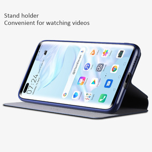 Image 4 - X Level Book Flip Leather Case For Huawei P40 Pro Pro+ Plus Ultra thin Slim