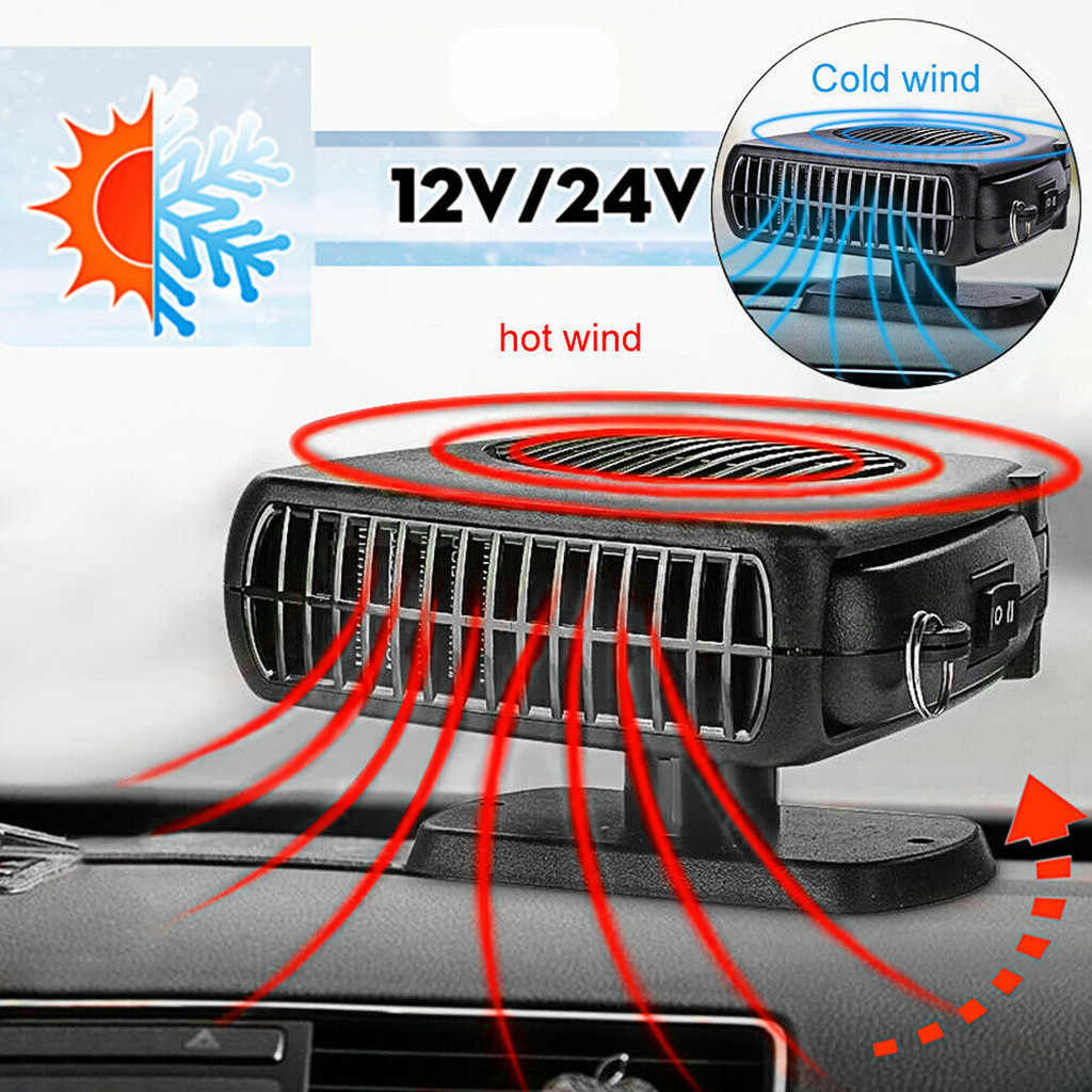 2 In 1 12 V/24 V 200W Auto Auto Heizung Tragbare Auto Heizung Heizung Fan Mit Schaukel -out Griff Lüfter Defrosts Defogger 91216