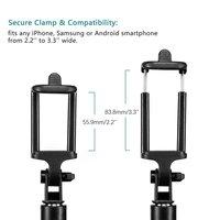 4 в 1 беспроводной Bluetooth 4,0 пульт дистанционного спуска затвора + Ручная селфи-палка для сотового телефона монопод + штатив + держатель для сма... 3