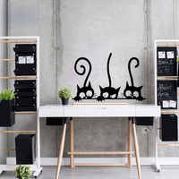 PVC Wall Sticker Family Cat Vinyl Removable Quote Wallpaper Decals On The Kitchen Vinyl Art Wall Decals Adhesive Home Decor
