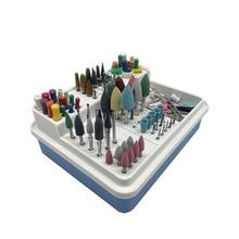 96 Holes Dental Endo Box Carbide Burs Diamond Burs Drill Placement Box Plastic Implant Holder Sterilize Case Disinfection Holder