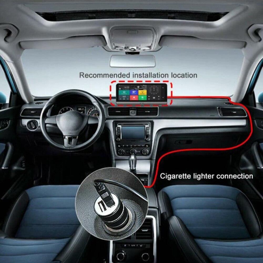 8 дюймов 4G Автомобильный видеорегистратор Камера GPS FHD 1080P Android видеорегистратор навигация ADAS Автомобильный видеорегистратор двойной объект...