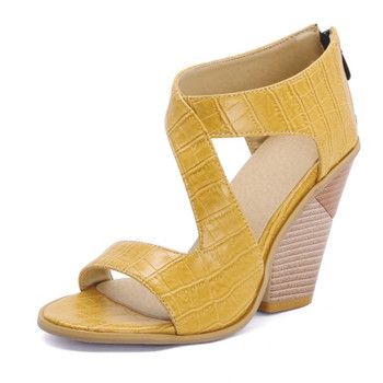 Fanyuan  sandals New Fashion Women Sandals  Solid Color High Wedges Shoes Women sexy Party Ladies Footwear Plus Size 34-43