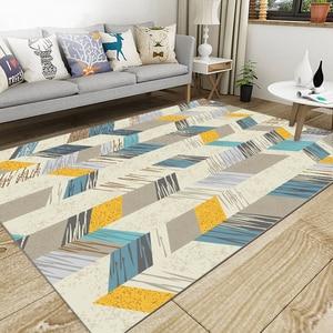 Скандинавский ковер для гостиной, спальни, дивана, журнального столика, короткий Кристальный бархатный коврик, Нескользящие мягкие простые...