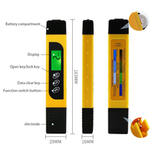 PH Water Quality Test Pen TDS Water Meter Drinking Water PH Tester Pen with Backlight Water Purity Temperature Check pen type digital ph temperature meter tester acidimeter 1 00 15 00 ph