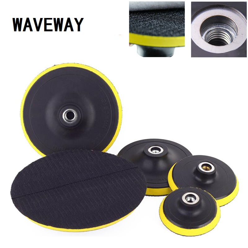 WAVEWAY 80-180mm Polishing Self-adhesive Disc Polishing Sandpaper Sheet Adhesive Disc Chuck Angle Grinder Sticky Plate For Car