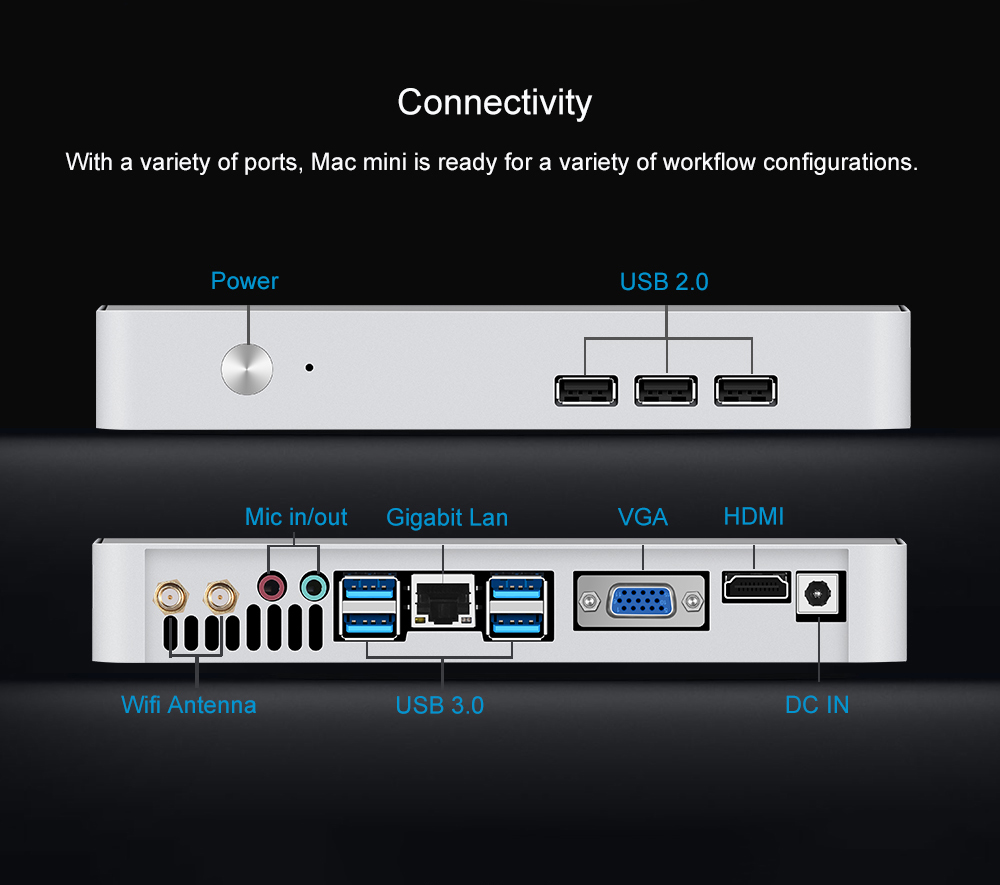 Chatreey  MAC Mini PC Intel Quad core i3 i5 i7  pre-installed windows 10 4K UHD HTPC Support linux  gaming desktop computer-2