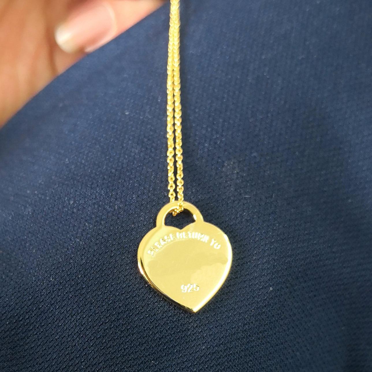 Купить классические женские s925 стерлинговое серебро сердца тегов