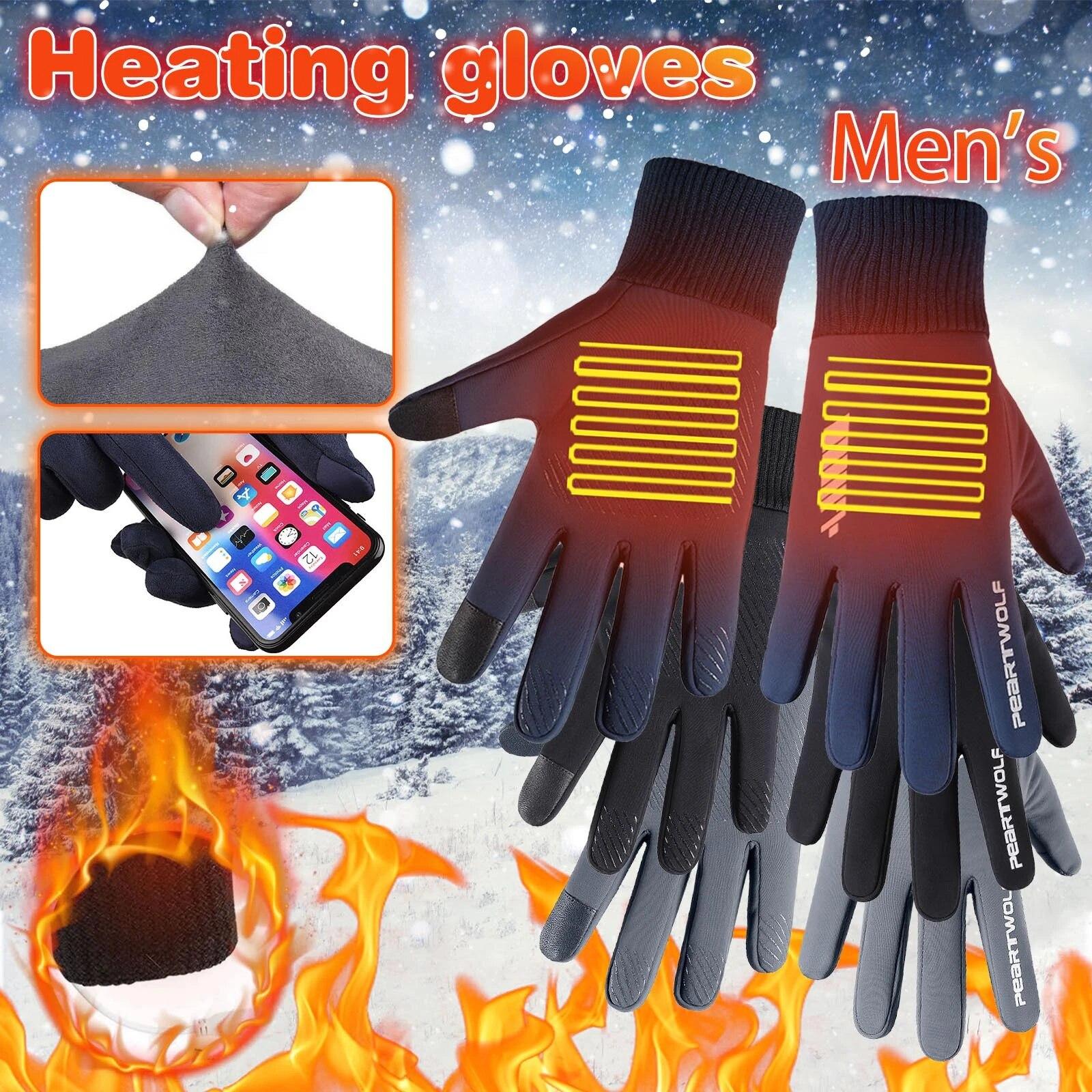 Winter Men/'s Women/'s Warm Phone Touch Sports Windproof Gloves Outdoor 2020