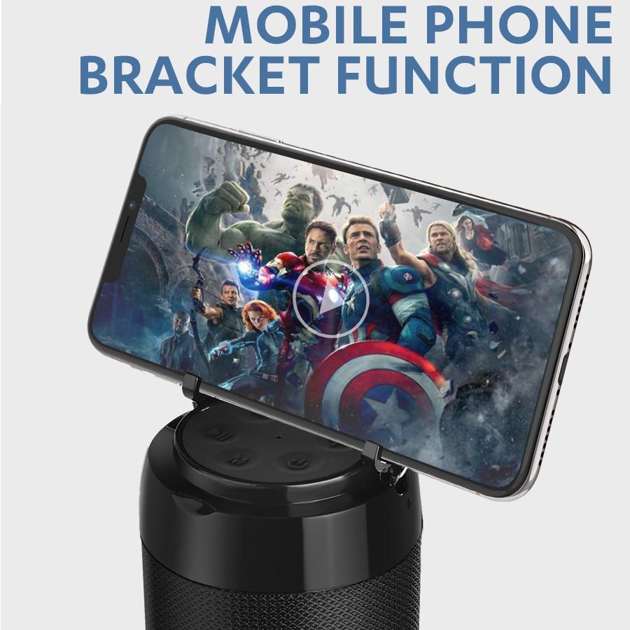 Mini Portable Bluetooth  Speaker with Phone Holder  5