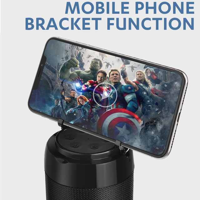 Portable Bluetooth Speaker with Phone Holder 4