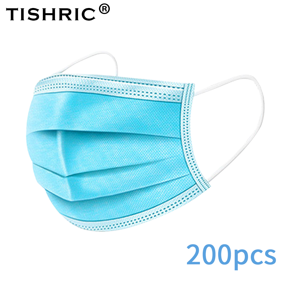 50PCS/100PCS/200PCS TISHRIC Disposable Protection Face Mask Air Pollution Anti Aerial Droplets Dust Mask Respirator Safety Mask