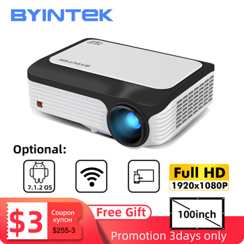 Free 100inch Screen BYINTEK M1080 Full HD 1080P Smart Android WIFI Home Theater Portable LED Mini Projector Beamer for 3D 4K orimag p6 portable smart mini dlp led wifi projector