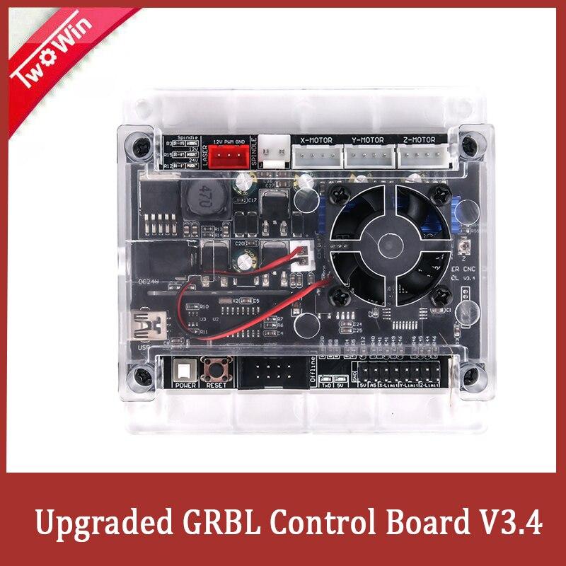 Tarjeta de Control de máquina de grabado CNC de puerto USB GRBL1.1, controlador integrado de placa de Control de 3 ejes, actualización de controlador CNC grbl