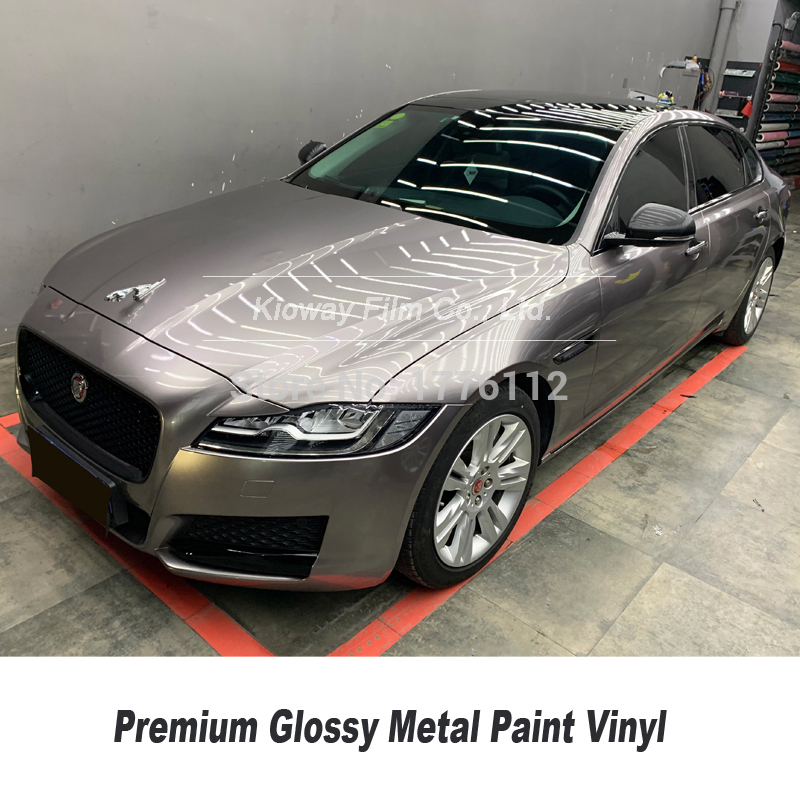 Highest quality car vinyl wrap combat grey vinyl sticker car super metallic series for High end car  low initial tack adhesive|Car Stickers| |  - title=