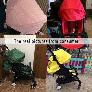 Image 3 - 175 derece arabası aksesuarları bebek Yoya için Babyzen Yoyo koltuk gömlekleri güneş gölge kapak Hood bebek zaman arabası yastık pedi yatak