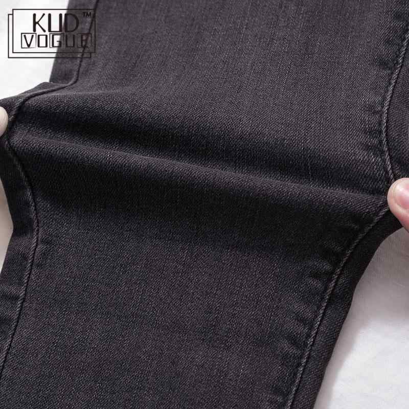 Plus Size Jeans Vrouw Denim Potlood Broek Vintage Hoge Taille Jeans Koreaanse Skinny Broek Blauw Bodem Elastische Denim Broek Dames