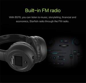 Image 5 - ZEALOT B570 Drahtlose Kopfhörer fm Radio Über Ohr Bluetooth Stereo Kopfhörer Headset für Computer Telefon, Unterstützung tf karte, AUX