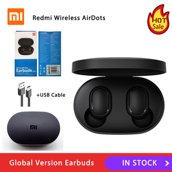 Versión Global Xiaomi Redmi Airdots TWS auricular Bluetooth Estéreo bajo BT 5,0 Eeadphones con micrófono de manos libres auriculares AI Control