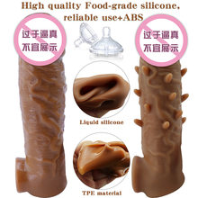 3D Penis Sleeve Penis Dick Extensions Condom Male Enlargement for Men Delay Spray Massager Penis Extender Adult Sex Toys(China)