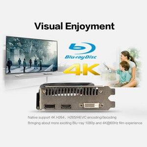 Image 3 - Yeston Radeon RX 550 GPU 4GB GDDR5 128bit oyun masaüstü bilgisayar PC ekran kartları desteği DVI D/HDMI/DP PCI E 3.0