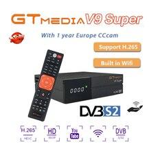 Full HD DVB-S2 Satellite Receiver GTMedia V9 Super for 1 Year Europe Cccam 7 line Support Built-in WIFI Mgcam Youtube USB 2.0