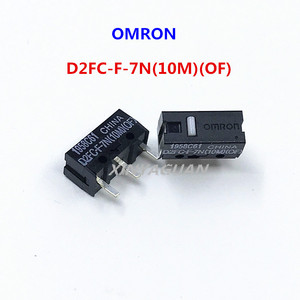OMRON Mouse Micro Switch D2FC-F-7N(10M)(OF) button suitable for 20M 50M Steelseries Sensei310 Logitech G102 GPRO G302 mouse 2pcs(China)