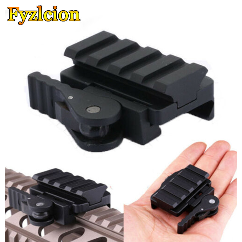 Tactical AR-15 M16 20 mm Picatinny/Weaver Rail Base QD Quick Release Riser Scope Mount Adapter image