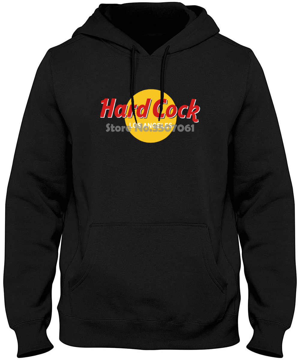 Hard La Los Angeles Black Rock 100% Cotton Short Sleeve long Sleeve O-neck Tops Hoodies & Sweatshirts