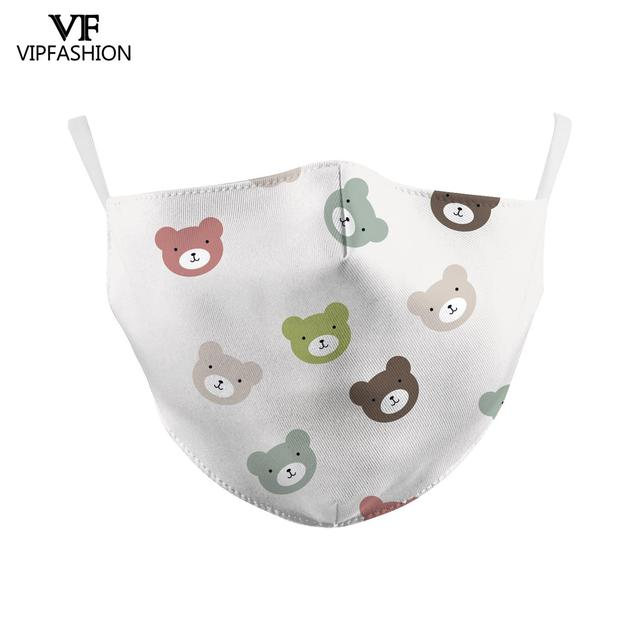 VIP FASHAION Adults Anti-Dust Face Mouth PM2.5 Breathable Washable Reusable Protective 3D Printed Face Mask 2