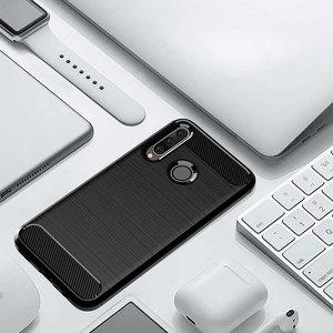 Image 5 - ZOKTEEC pour Huawei nova 4 étui de luxe armure antichoc en Fiber de carbone souple TPU silicone étui housse pare chocs pour Huawei nova 4