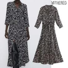 Увядшее платье в английском стиле, элегантное, с цветочным принтом, черное, со сборкой талии, vestidos de fiesta de noche vestidos, макси платье, женские блейзеры
