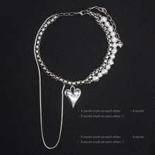 New stainless steel chains heart pendant women