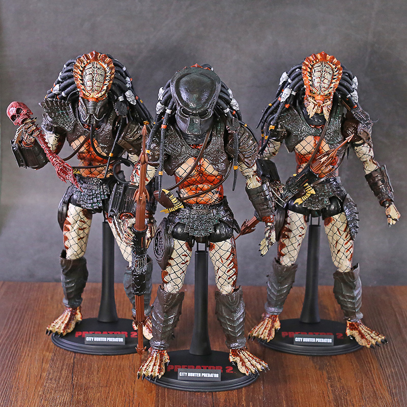 Hot Toys Predator 2 City Hunter Predator A B C 1/6 Scale PVC Action Figure Collectible Model Toy