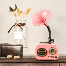 Retro Wood Portable Mini Bluetooth Speaker Wireless Loudspeaker Outdoor Sound System TF FM Radio Music Subwoofer