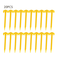Spor ve Eğlence'ten Çadır Aksesuarları'de 20pcs Plastic Tent Peg Nail Spike Hiking Camping Tents Building Pegs Outdoor Sleepping Tents Tools Mat Stake Nails
