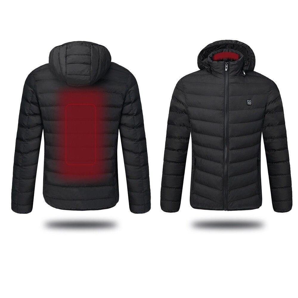 Usb aquecido casaco de temperatura ajustável jaqueta