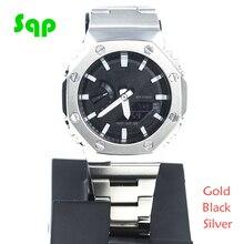 GA2100 Juego de modificación de reloj GA2100, banda de reloj, bisel, 100%, Metal, acero inoxidable 316L