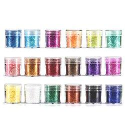 18 Bottle Dreamlike Glitter Powder for Resin DIY Jewelry Filling Nail Art Decoration 1mm Bling Sequins Craft Accessories Filler