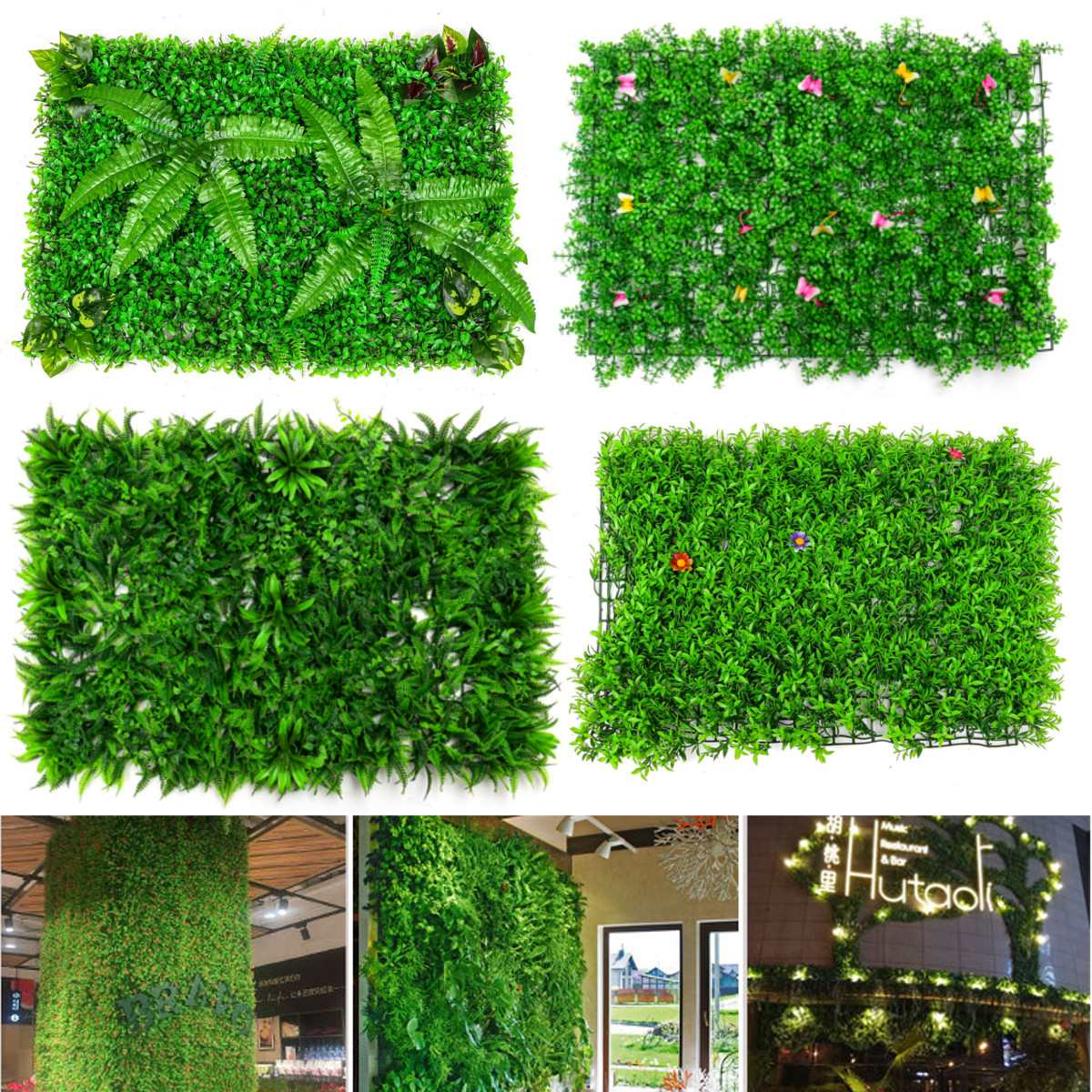 Artificial Plant Foliage Hedge Grass Moss Carpet Grass-Mat Greenery Grass Wall Panel Wedding Party Decoration