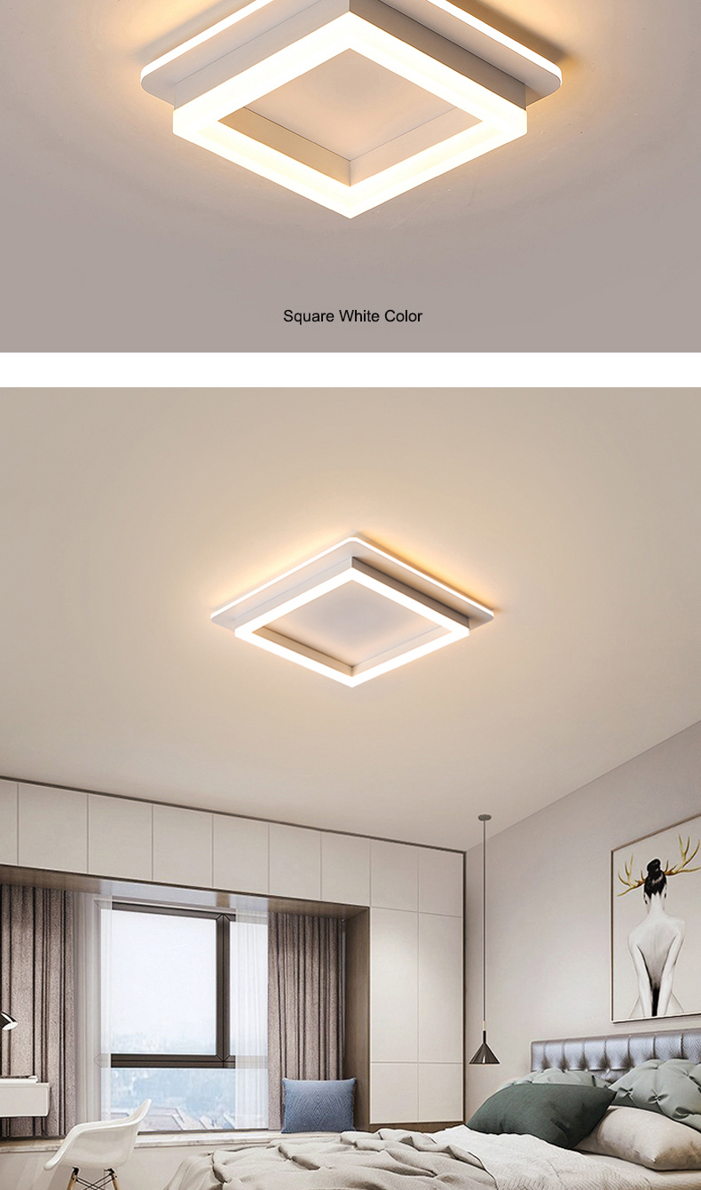 Hbfe8f10724c2460d9007d1a5d2638194M Modern Led Ceiling Lights For Hallway Porch Balcony Bedroom Living Room Surface Mounted Square/Round LED Ceiling Lamp