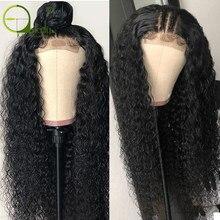 Stilly 4x4 парик шнурка бразильский кудрявый парик человеческих волос для черных женщин кружевно парик с волосами Реми с волосами младенца