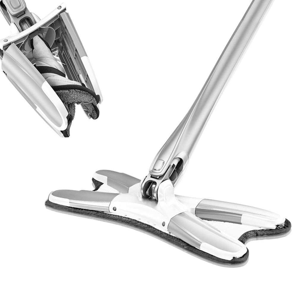 Replacement-Pad Hardwood-Laminate Mop-Washing Wringing Microfiber Hand-Free Flat-Floor