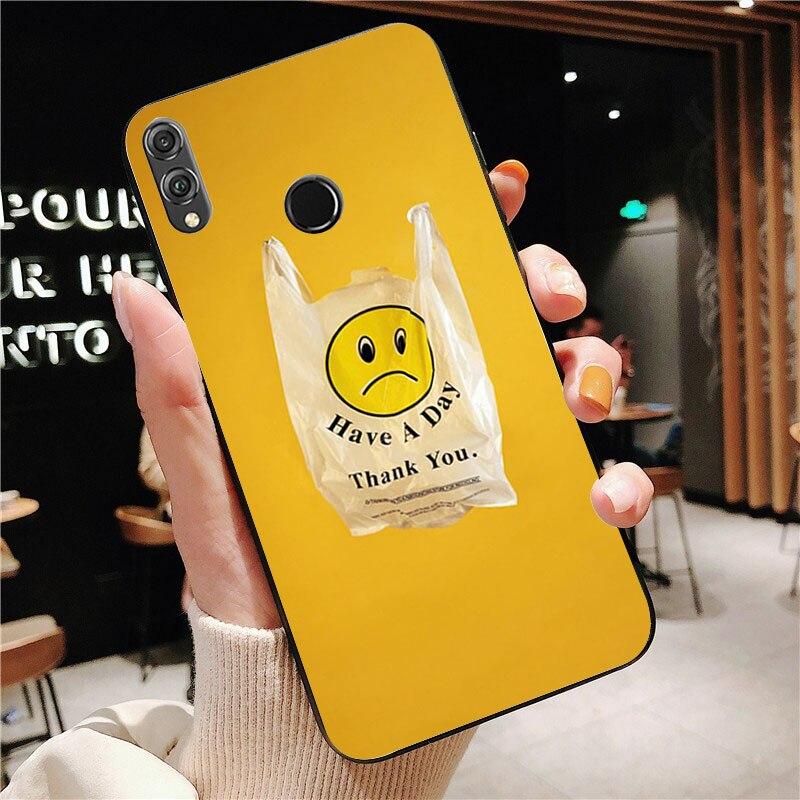 Kuning Estetika Plastik Tas Mewah Desain Unik Ponsel Cover Untuk Honor10 Lite 20 20 Lite Y7 Y9 9x Pro Psmartz Kasus Setengah Dibungkus Kasus Aliexpress
