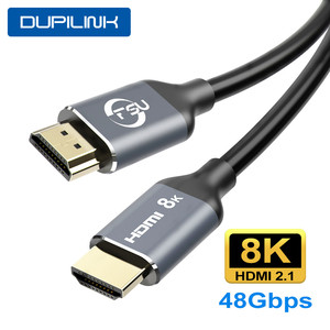 HDMI 2.1 8K HDMI Cable 4K@120Hz 48Gbps HDCP2.2 HDMI Cable for PS4 Splitter ARC Switch Audio Video Cable 8K HDMI 2.1 1 2 3 M
