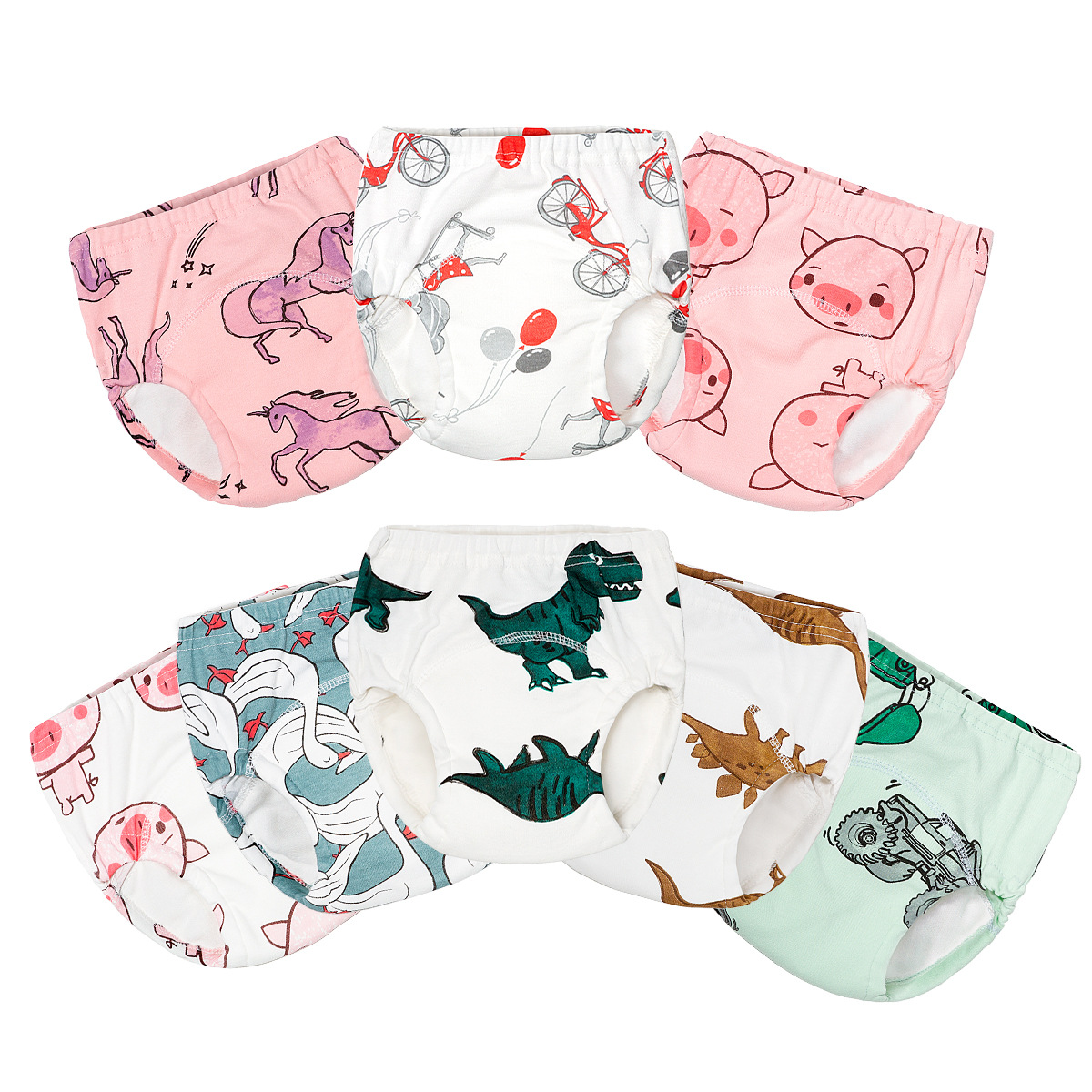 Washable Eco-Friendly Cloth Diaper Adjustable Nappy Reusable Cloth Diapers Fit 0-2years 6-25kg Baby Training Pants Underwear