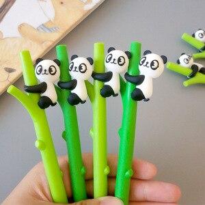 8 шт. Новая креативная мультяшная Студенческая детская авторучка для скалолазания панда гелевая ручка под бамбук Милая стационарная оптова...