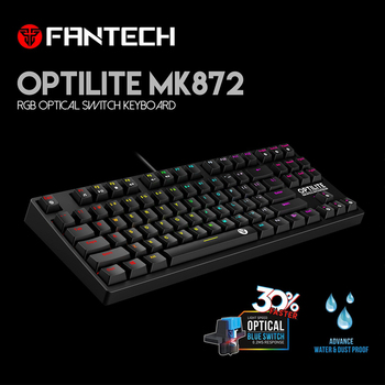 Fantech MK872 Gaming Keyboard RGB Backlit Keyboard Optical Switch Mechanical Keyboard Waterproof E-Sports Mechanical Keyboard фото